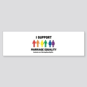 I Support Marriage Equality Bumper Sticker