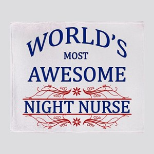 World's Most Awesome Night Nurse Throw Blanket
