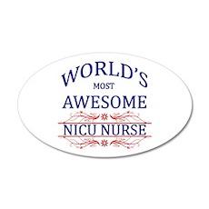 World's Most Awesome NICU Nurse Wall Decal