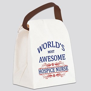 World's Most Awesome Hospice Nurse Canvas Lunch Ba