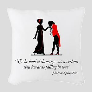 Fond of Dancing Woven Throw Pillow