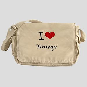 I love Strange Messenger Bag