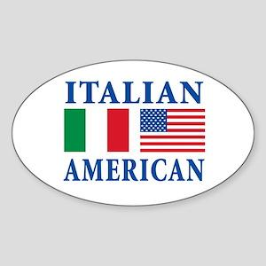 Italian American Oval Sticker