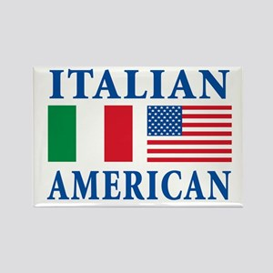 Italian American Rectangle Magnet