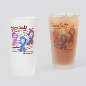 Cancer Suck Suck Sucks Multi Drinking Glass