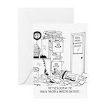 Chaos Cartoon 6292 Greeting Card