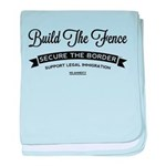 Build The Fence baby blanket