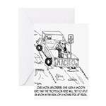 Truck Cartoon 0040 Greeting Card