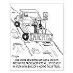 Truck Cartoon 0040 Small Poster