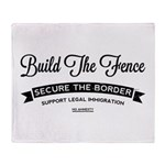 Build The Fence Throw Blanket