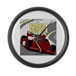 Racing GPS Large Wall Clock