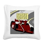 Racing GPS Square Canvas Pillow