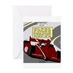 Racing GPS Greeting Card