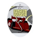 Racing GPS Ornament (Oval)