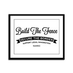 Build The Fence Framed Panel Print