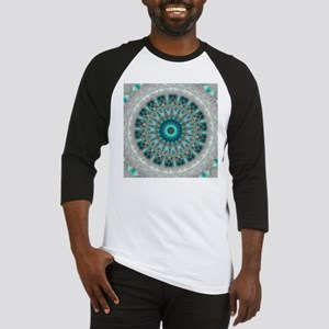 Blue Earth Mandala Baseball Jersey