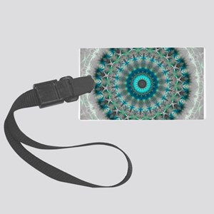 Blue Earth Mandala Large Luggage Tag