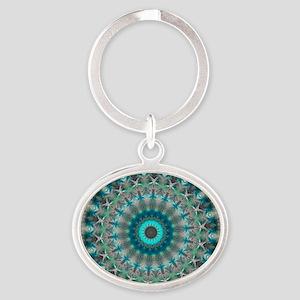 Blue Earth Mandala Keychains