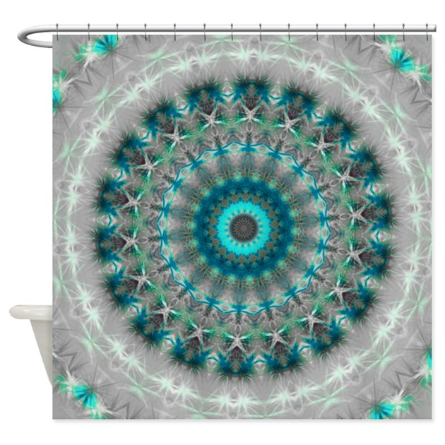 Blue Earth Mandala Shower Curtain By Damask Patterns Store