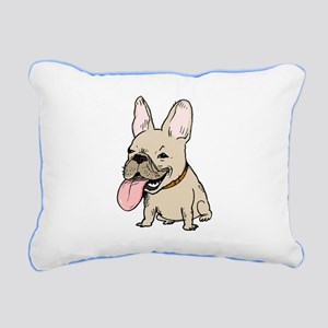 Frenchie Rectangular Canvas Pillow