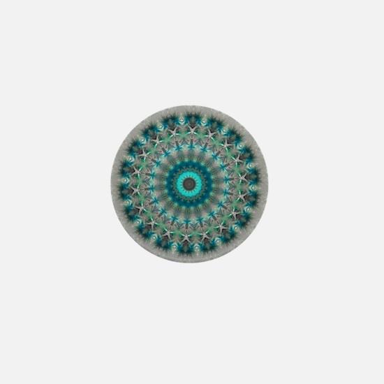 Blue Earth Mandala Mini Button