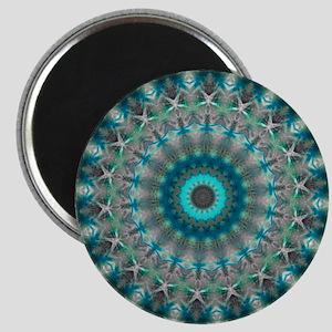 Blue Earth Mandala Magnet