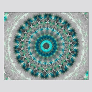 Blue Earth Mandala Poster Design