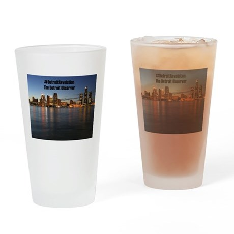 Detroit Revolution Drinking Glass