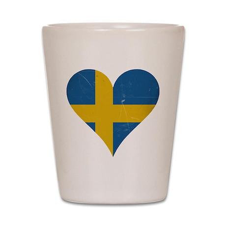 Sweden heart Shot Glass