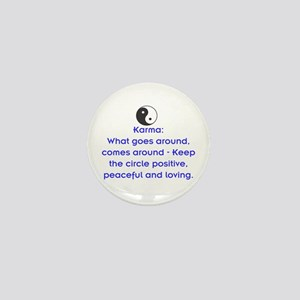 KARMA - KEEP THE CIRCLE POSITIVE Mini Button