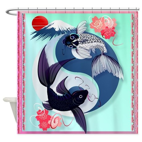 Yin and Yang Koi Shower Curtain