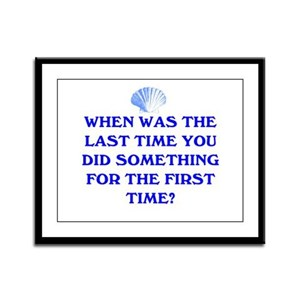 THE FIRST TIME Framed Panel Print