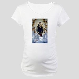 Regina Angelorum Bouguereau Maternity T-Shirt