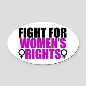 Women's Rights Oval Car Magnet