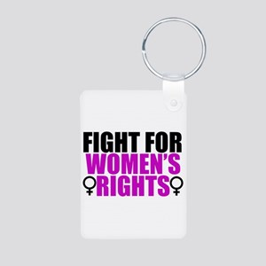 Women's Rights Aluminum Photo Keychain