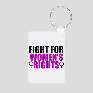 Women's Rights Aluminum Photo Keychain