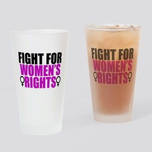 Women's Rights Drinking Glass