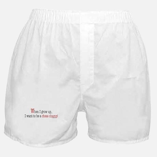 ... a chess champ Boxer Shorts