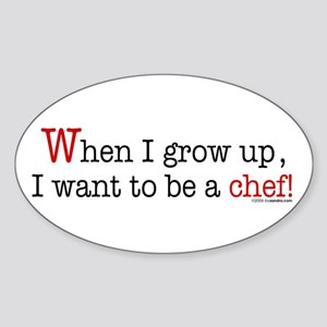 ... a chef Oval Sticker