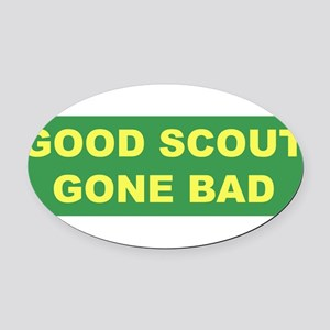 good scout green copy Oval Car Magnet