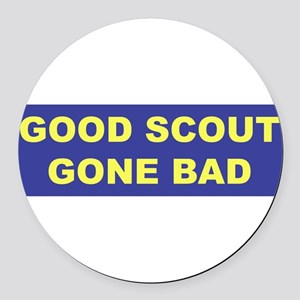 3-good scout blue copy Round Car Magnet
