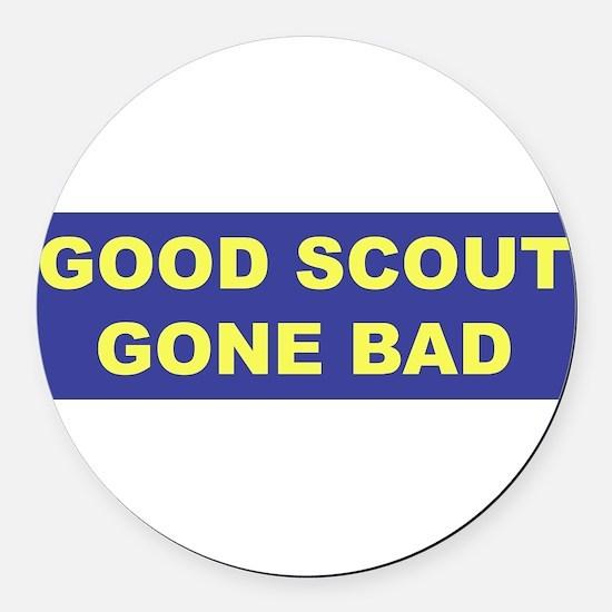 3-good scout blue copy.png Round Car Magnet