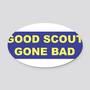 3-good scout blue copy Oval Car Magnet