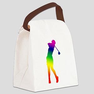 3-golfer Canvas Lunch Bag