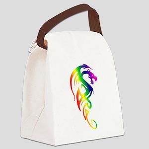 transparent dragon 2 Canvas Lunch Bag