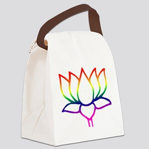 lotus outline Canvas Lunch Bag
