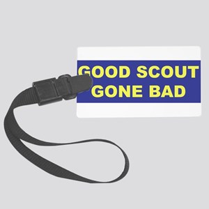 3-good scout blue copy Large Luggage Tag