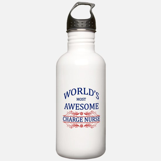 World's Most Awesome Charge Nurse Water Bottle