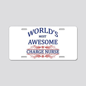 World's Most Awesome Charge Nurse Aluminum License