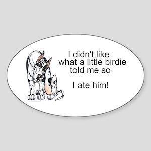 Lil birdie Oval Sticker